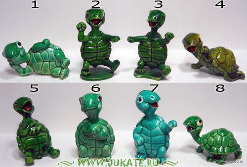 Набор фигурок киндер из серии ,,Черепахи,,(1987г.)(цена за набор)