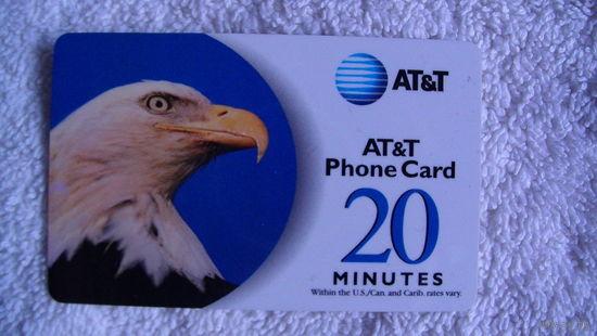 Телефонная карта США на 20 минут. распродажа