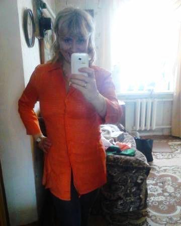 Платье-туника красивого -модного в этом сезоне АРАНЖЕВОГО цвета р.46-48