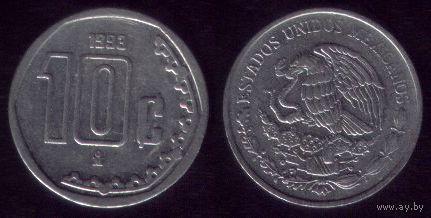 10 сентаво 1993 год Мексика
