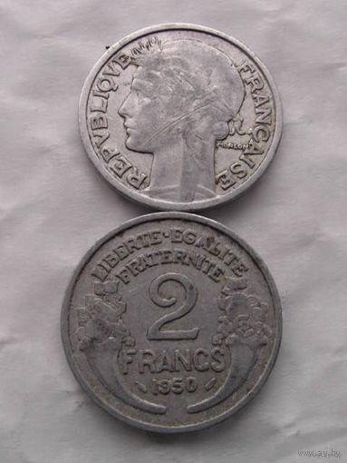 Франция 2 ФРАНКА 1950г.  распродажа