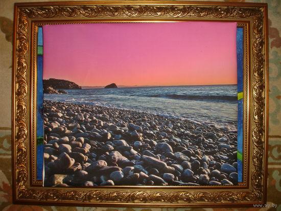Картина Море.Закат.Италия р-р 49см-49см.