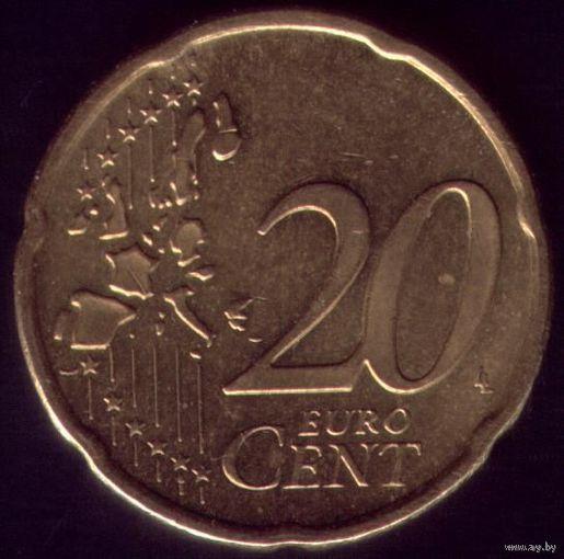 20 евроцентов 2002 год Германия А