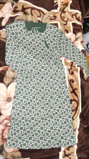 Тёплое полушерстяное платье, р.46-48