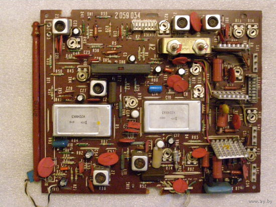 Плата с радиодеталями