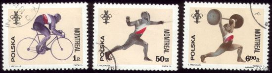 3 марки 1976 год Польша Олимпиада