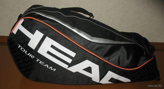Сумка Head для большого тенниса, бадминтона, сквоша на 2-4 ракетки. Два отделения: термо отдел для ракеток который защищает ваши ракетки от перепадов температуры, отдел для обуви, формы плюс карман дл