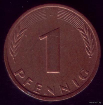 1 пфенниг 1983 год ФРГ J