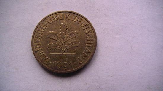 10 пфенингов фрг 1991 (J) распродажа