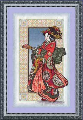 """Набор для вышивания """"Девушка в красном кимоно"""" (Panna)"""