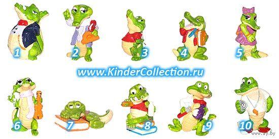 "Фигурка #9 Dr. Karl Knallgas из серии ""Крокодилы в школе"" (Die Kroko Schule, Крокодилы школьные). Ferrero 1991."