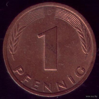 1 пфенниг 1980 год ФРГ D