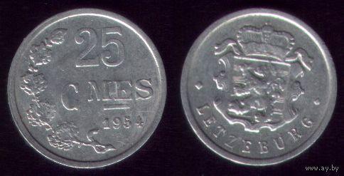 25 сантимов 1954 год Люксембург