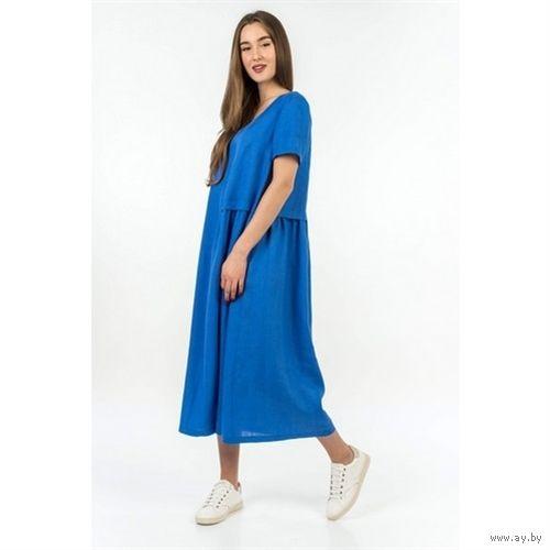 Льняное платье Калинка. Оверсайз.