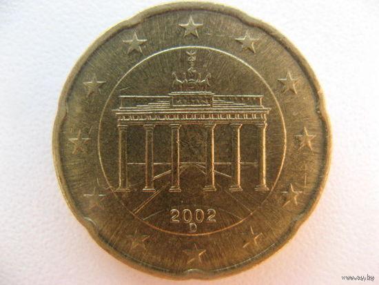 Германия 20 евроцентов 2002г. (D)