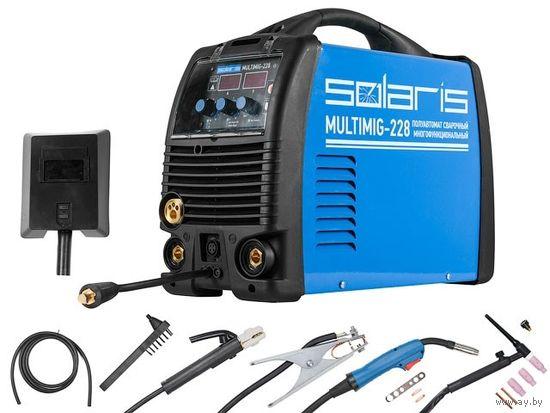Полуавтомат сварочный Solaris MULTIMIG-228 (MIG-MMA-TIG) многофункц.