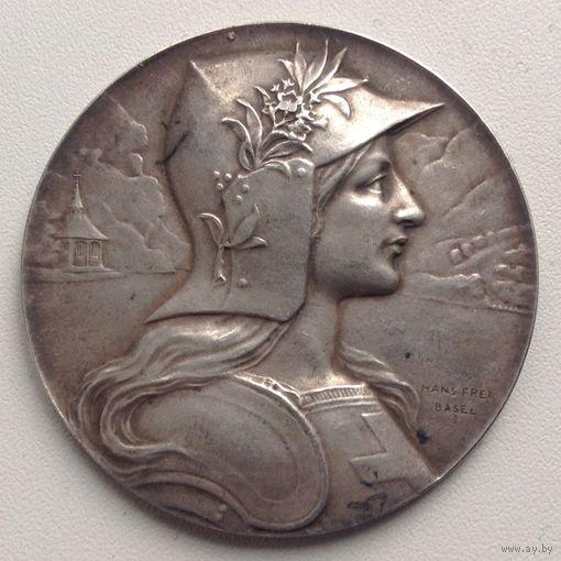 Медаль стрелкового фестиваля Швейцария ( серебро) Стрелковый талер