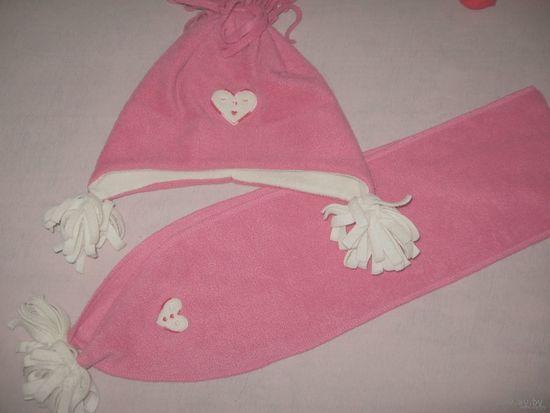 Флисовая шапочка и шарфик