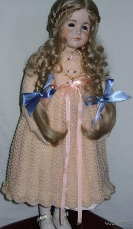 """Кукла """"Елизавета"""". Ручная работа. (Англия). В единственном экземпляре. Изготовлена для коллекции. Кукла русоволосая с голубыми глазами. Высота 60 см."""
