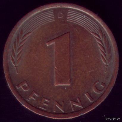 1 пфенниг 1978 год ФРГ D
