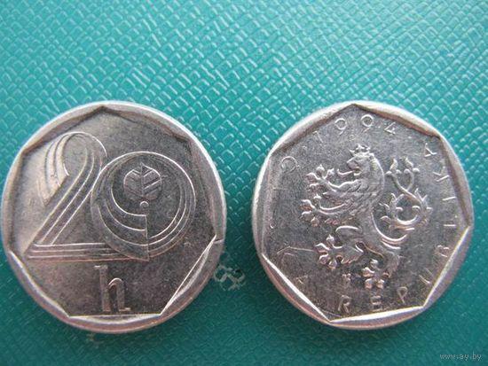 Чехия  20 геллер   1994