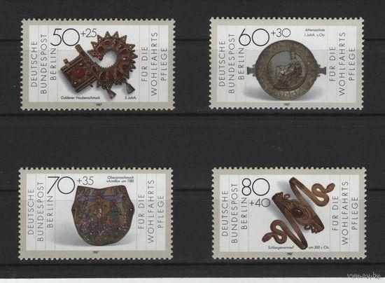 Западный Берлин 1987г. Mi N 789-792** Экспонаты музея из Золота и Серебра