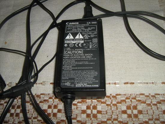 Зарядное устройство СА-560 для фотоаппарата Canon PC 1300 в сборе со всеми жгутами