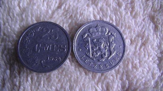 Люксембург 25 сантимов 1954г. распродажа