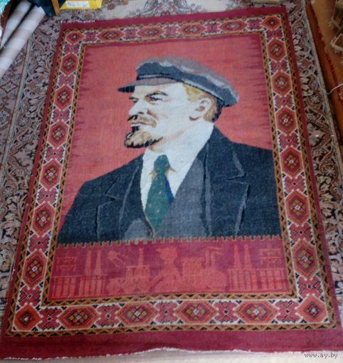 Редкий, большой ковер с изображением Ленина. СССР. Без МПЦ!