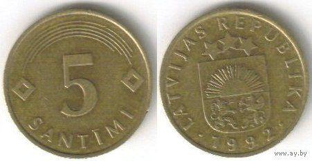 Латвия. 5 сантимов (1992)