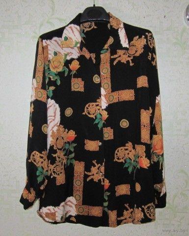Рубашка шелковая женская, р.52 (см. замеры)