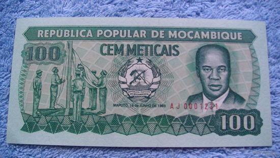 Мозамбик 100 метикал 1983г. UNC   распродажа