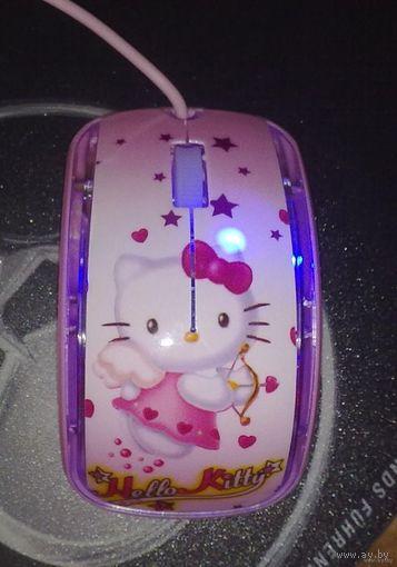 Стильная мышка Hello Kitty. Мышь новая, в Минске.