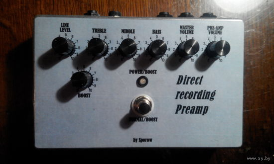 Педаль (примочка) для электро музыкального инструмента аналог Marshal DRP-1