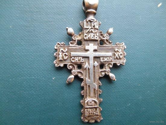 Крест нательный   серебро C  РУБЛЯ