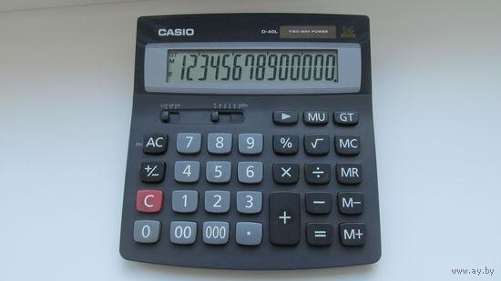 Калькулятор casio d-40l бу в раб.состоянии