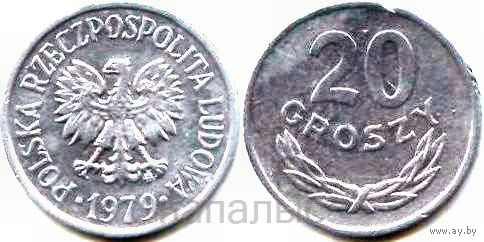 Польша 20 groszy 1979 MW