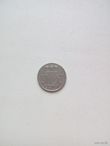 10 центов 1970г. Нидерланды