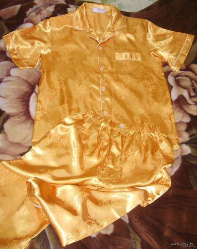 Пижама атласная для подростка/мужчины LOTUS или унисекс р.48-50, средний рост