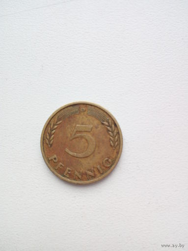 5 пфеннингов 1950г. ФРГ(D)