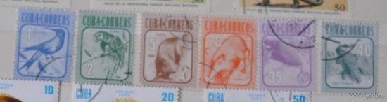 Серия 6 марок, 1981г. Фауна, гаш. Куба.