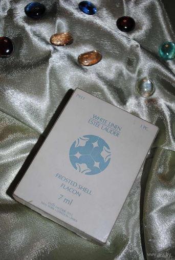 Оригинальная Франция: Белый Лен от Эсти Лаудер (White Linen от Estee Lauder) духи 7мл - выпуск моих 1978 год - никогда не открывались - флакон целый - две родные коробки, бумага, пакетик из сатина с р
