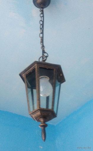2 потолочных металлических фонаря для помещения