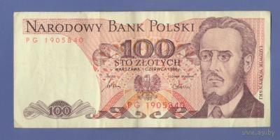 100 злотых 1986г.   распродажа