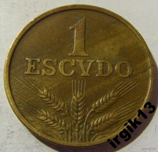 1 эскудо 1972 год Португалия