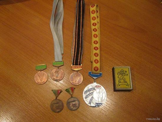Шесть спортивных наград одним лотом.