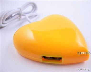 USB хаб Hub для ноутбука  или ПК Сердце!