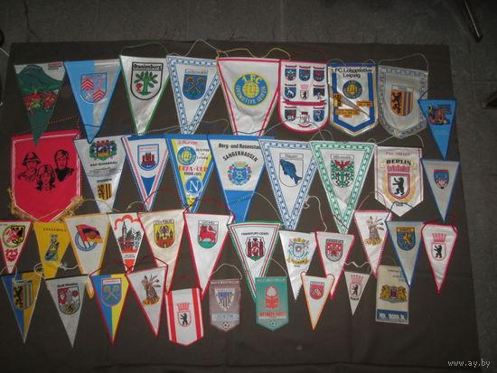 Коллекция Вымпелы 40 шт. Германия 70-90гг