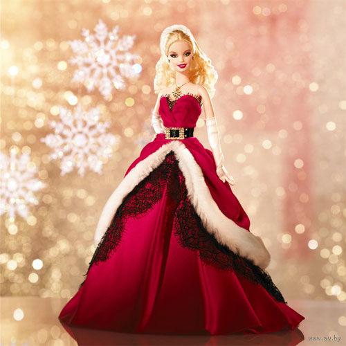 """Коллекционная кукла барби MATTEL,-""""РОЖДЕСТВО""""-из серии праздники."""
