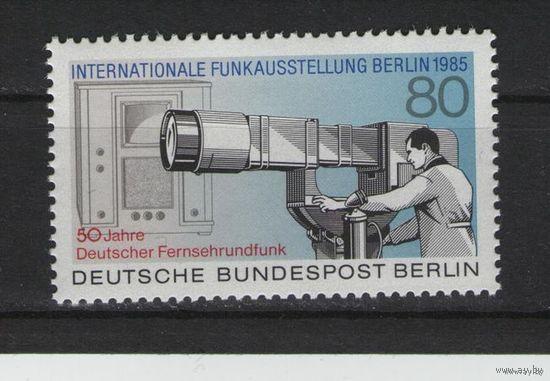 Западный Берлин 1985г. Mi N 741** 50 лет немецкому телевидению